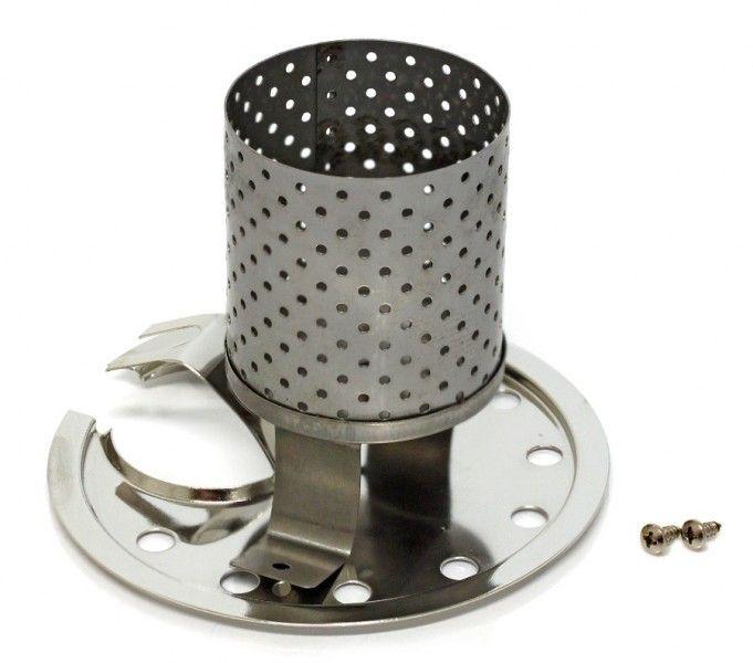 Petromax Radiator und Prallteller HK 500/ HK 350 Chrom  Mit dem Radiator verwandelt sich die Petromax HK500 in eine Heizung. Der Radiator kann auch mit Glühstrumpf betrieben werden.