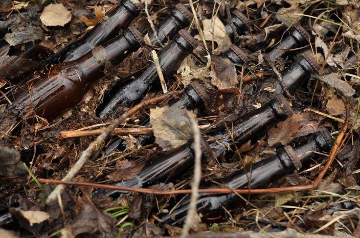 40 year old case of beer left in the woods. http://ift.tt/2tX57Uv