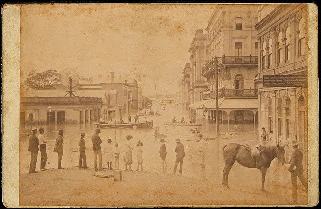 1893 Brisbane, Australia Floods - Creek Street