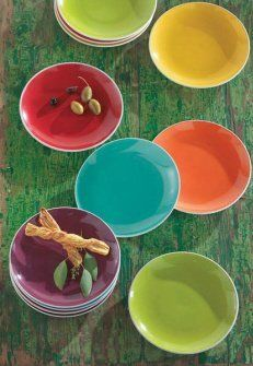 AG Bright Solid Luncheon Plates - set of 6 & 42 best Home \u0026 Kitchen - Tabletop images on Pinterest | Kitchen ...