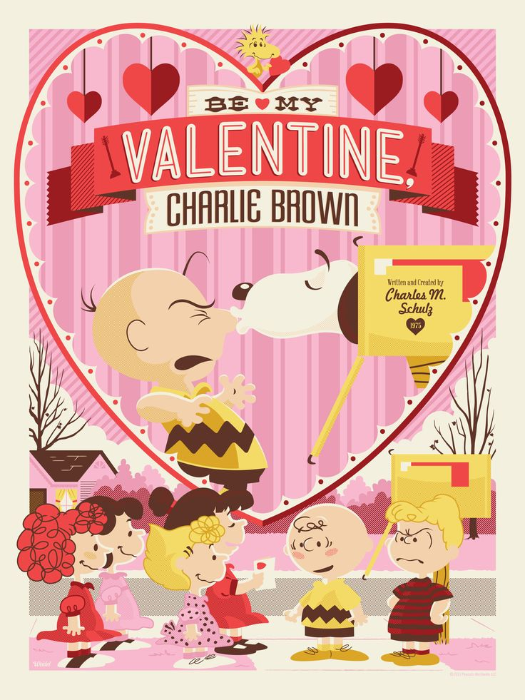 """""""Be My Valentine, Charlie Brown"""" Peanuts Poster /// by Jayson Weidel"""