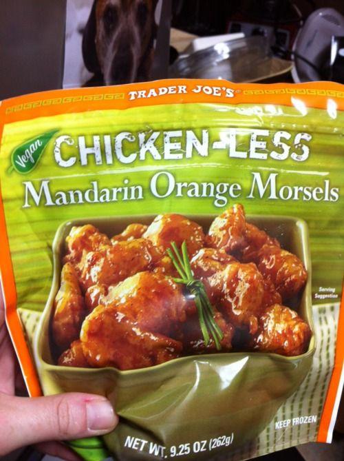 hello T's :)Mandarin Chickenless, Vegetables Green, Mandarin Orange, Joe Food, Vegan Cream, Trader Joes, Green Curries, Cream Cheeses, Chickenless Morsels