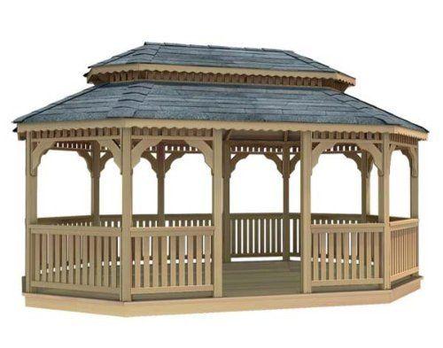 14' x 28' Cedar Oval Double Roof Gazebo by Fifthroom. $16499.00