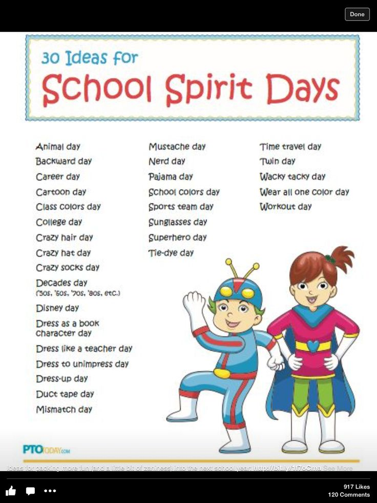 Can also be used for last month of school--have students dress up with a different letter/theme for every day. A-animal day, b-backyard day, c-career day...