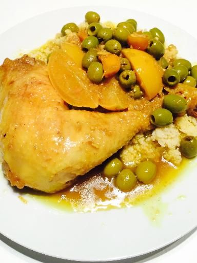 Véritable tajine poulet olives et citrons confits et huile d'argan - Recette de cuisine Marmiton : une recette