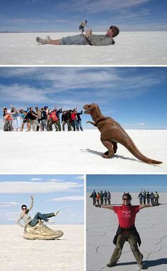 fun with photography--forced perspective...haha love the T-Rex