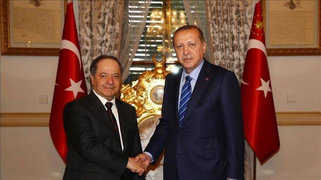 Erdogan temui pemimpin Kurdi irak  Presiden Turki Recep Tayip Erdogan dan Pemimpin Wilayah Kurdi di Irak Masoud Barzani bertemu di Istana Mabeyn Istanbul Turki (26/2/2017. Anadolu Agency)  Presiden Turki Recep Tayyip Erdogan bertemu Pemerintah Daerah Kurdi Irak Masoud Barzani hari Minggu (26/2) di Istanbul. Topik utama yang dibahas adalah hubungan ekonomi dan misi menyelamatkan Mosul dari ISIS. Rabu (22/2) lalu juru bicara Erdogan Ibrahim Kalin telah memberi komentar mengenai pertemuan itu…