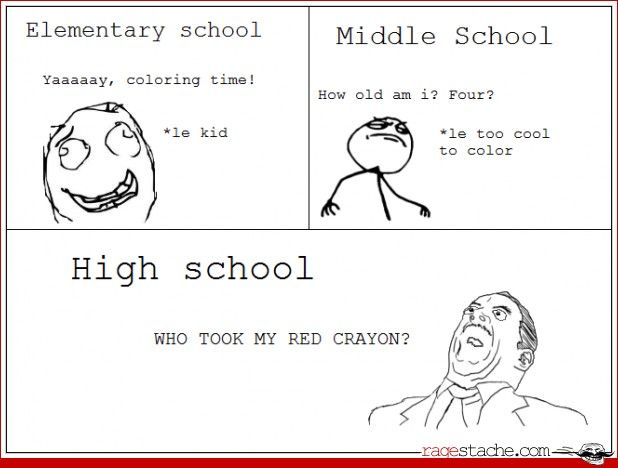 """Hahahaha! So true! Middle school kids are so annoying think they """"cool"""" -_-...their not.< *they're. Looks like someone needs to go back to middle school!"""