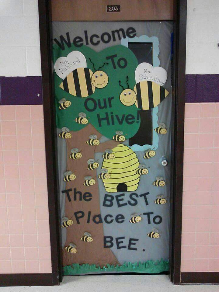 Bees on the door