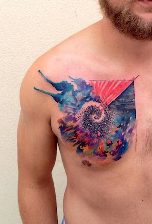 #water color #tattoo #abstract