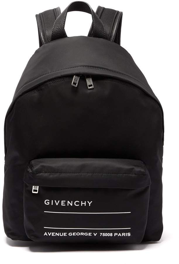 44c1216d0e Givenchy Urban leather-trimmed backpack