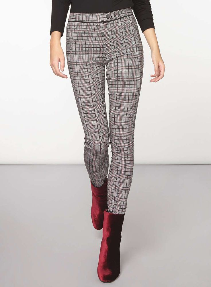 J2017  **Tall Port Check Bengaline Trousers