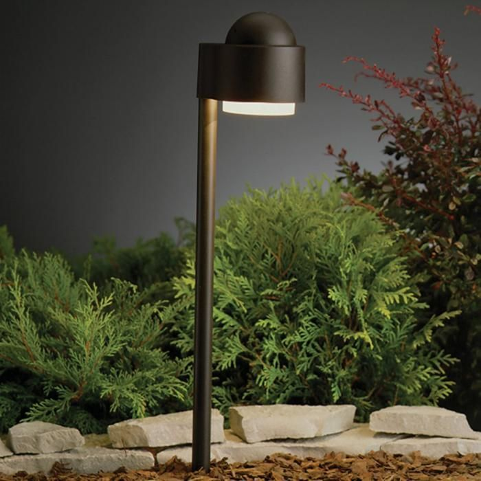 more expensive but has a nice commercial look ideal for a condo complex kichler lighting kichler simplicity side mount landscape path - Kichler Outdoor Lighting