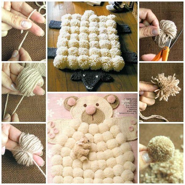 Os pompons feitos com lã estão muito na voga, são uma forma diferente e original de decorar a sua casa. São muitas as opções para utilizar estes pompons, s