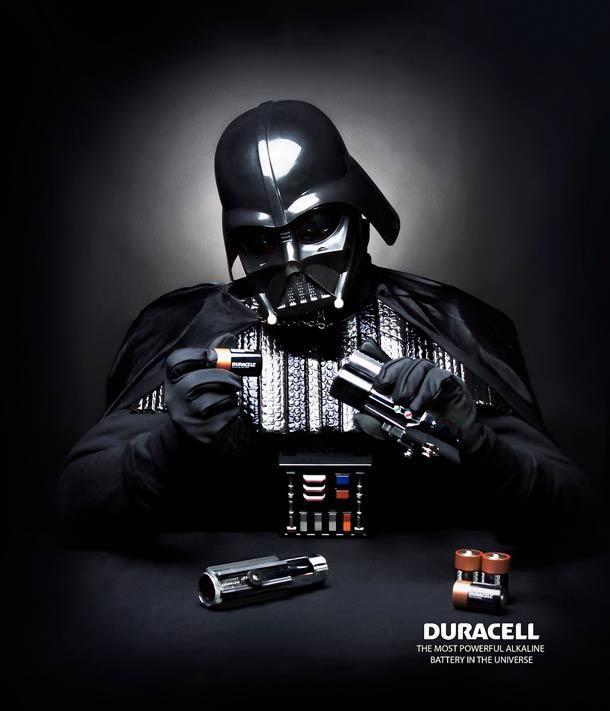 advertising | Duracell x Star Wars #darthvader #lightsaber