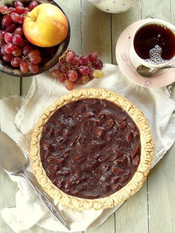 Vegan Chocolate Pecan Pie: