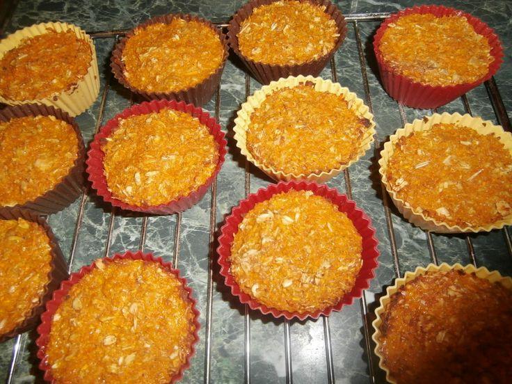 Диетические кексы из тыквы без сахара и муки