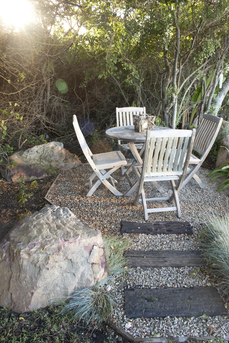 Beautiful private seating areas set in the coastal fynbos gardens
