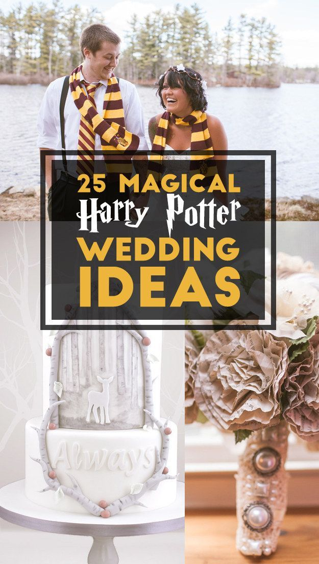 25 Completely Magical Harry Potter wedding ideas