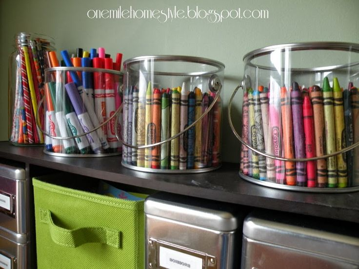 Crayon and marker clear storage never too organized pinterest - Organizing craft supplies in a small space collection ...
