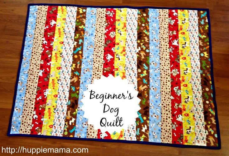 Beginner S Dog Quilt Sewing Tutorial Sewing Pinterest