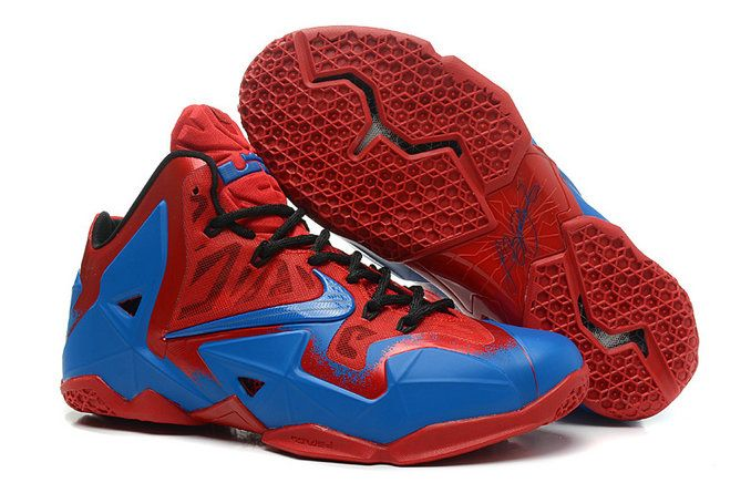 best sneakers 76513 9ab71 lebron 11 Clippers Bright Crimson Royal Blue