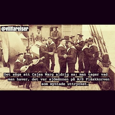 #sjömän #dans #dansa #styrdans #båt #fartyg #cajsa #warg #villfarelser #humor #ironi #ironiskt #kul #skoj #text #foto #fotografi