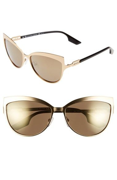 McQ by Alexander McQueen 'Butterfly' 60mm Stainless Steel Sunglasses available at #Nordstrom