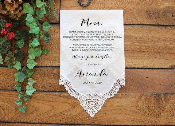 Mother Of The Bride Gift Wedding Handkerchief Customized Printed Wedding Hankies Gift For Mom Ls11padcop 1 Mutter Der Braut Geschenk Hochzeit Werdende Mutter Geschenk