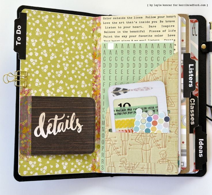 Kerri Bradford cutfile for Traverlers Notebook