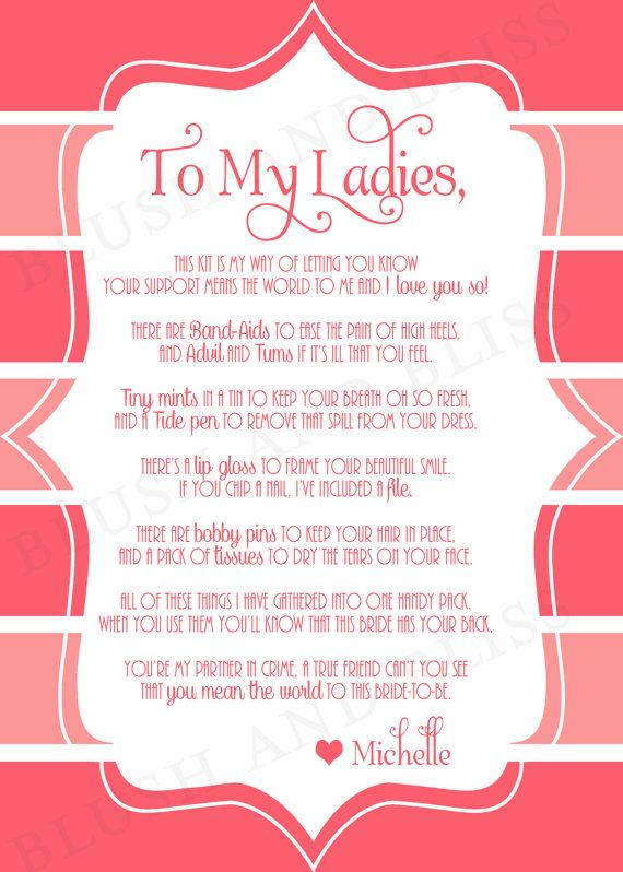 Best 10 Bridesmaid Poems Ideas On Pinterest Wedding Day