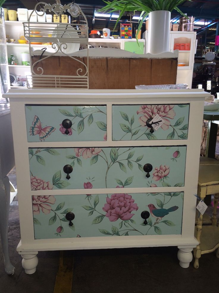 Gorgeous Antique Upcycled Chest Of Drawers Available Now