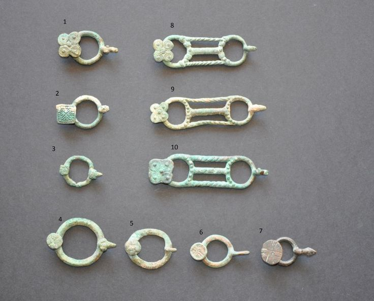 Amlash Bactrian bronze belt buckles with numbers, 1st millenium B.C. Private collection