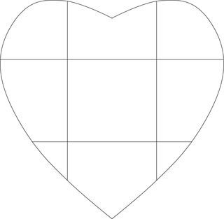 Heart envelope template