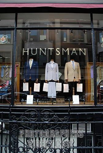 H. Huntsman & Sons, 11 Savile Row, London W1S 3PS, United Kingdom: kings of coat's natural shoulder.