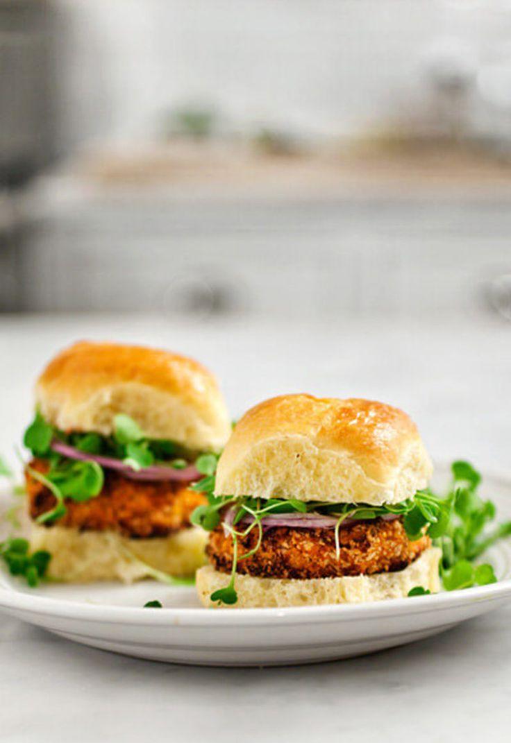 4. Sweet Potato and Tofu Veggie Burger  #healthy #veggieburger http://greatist.com/eat/veggie-burgers-even-meat-eaters-will-love