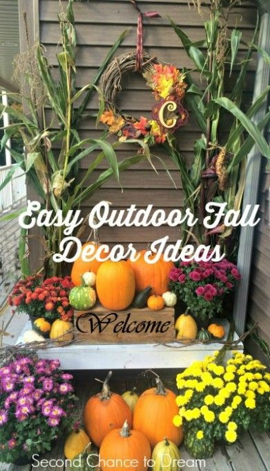 Second Chance to Dream: Easy Outdoor Fall  Decor