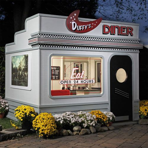 126 best images about 50 39 s diner party on pinterest more for Playhouse kitchen ideas