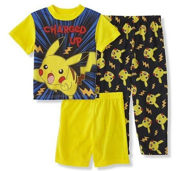 Brand New!Pokemon Boys Thermal Underwear 2 Piece Set PJ/'s Cotton-size 6