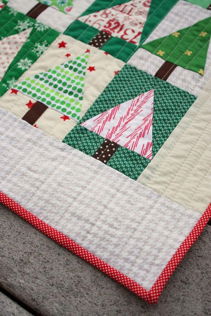 Patchwork Christmas Tree Quilt Blocks | Christmas tree quilt block, Christmas tree quilt ...
