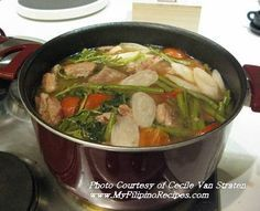 The other Philipino ultimate comfort food of mine - Sinigang - can be made with any meat or fish. I normally cheat and use a sachet but tastes just as good! My mother swears by them.