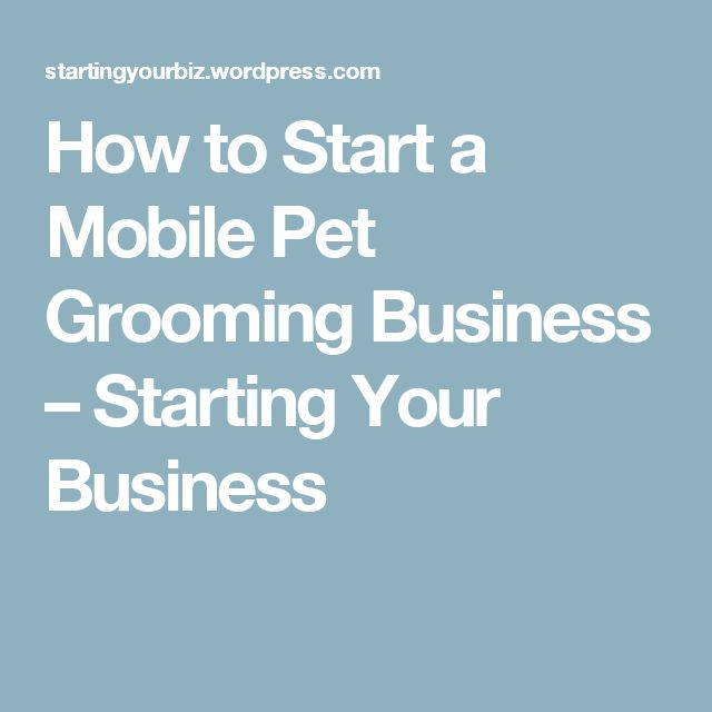 How to Start a Mobile Pet Grooming Business – Starting Your Business