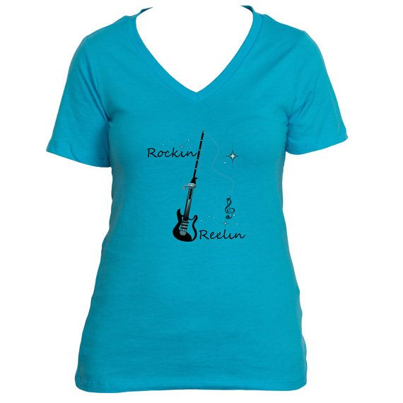 Rockin and Reelin Ladies Short Sleeve by TheNextPathShop on Etsy