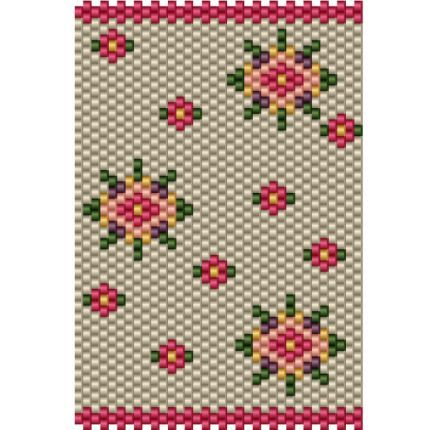 Bead Tube Flower cover  is a bead pattern for peyote