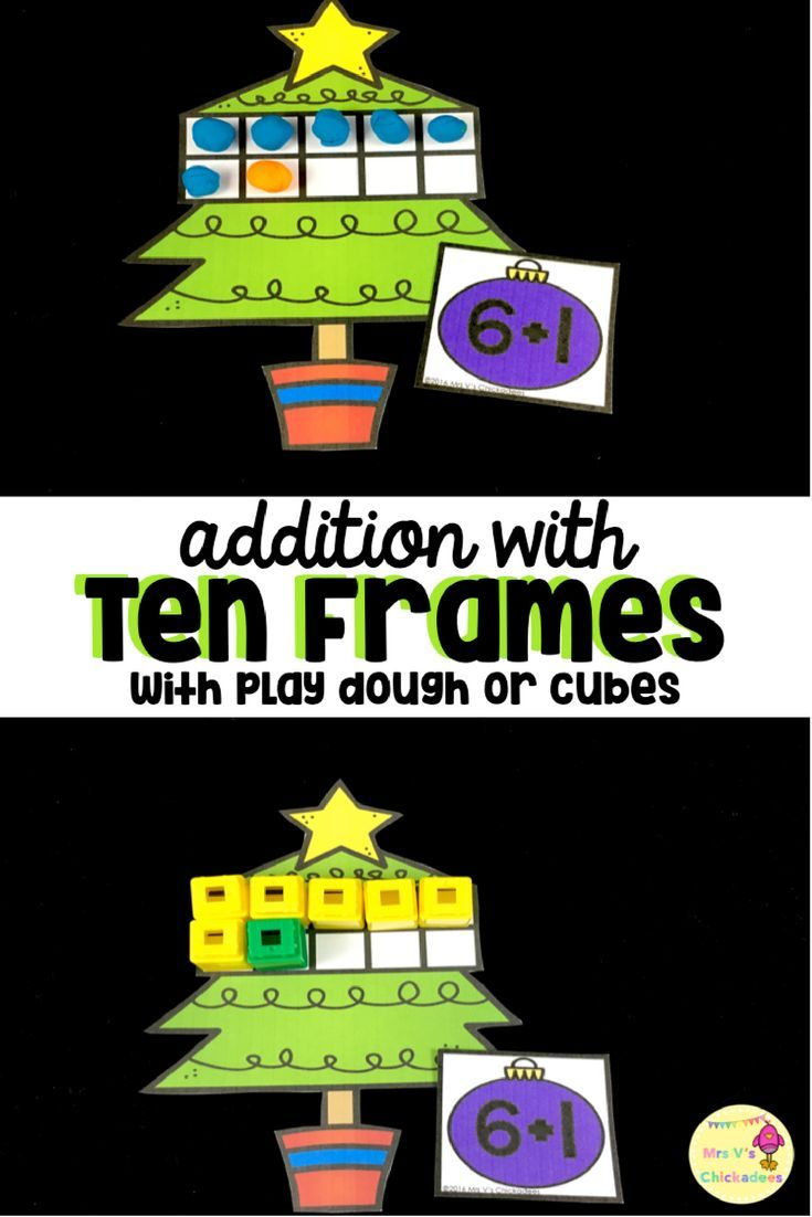 Differentiated Ten Frame Centers Number Id Addition Subtraction More Christmas Math Centers Winter Classroom Activities Christmas Math Touch math single digit addition