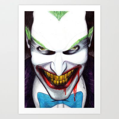 That Evil Smile Art Print by DeMoose_Art - $20.00 Free Worldwide Shipping Over $75