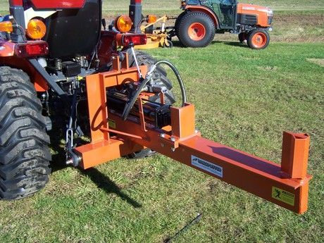 how to build a hydraulic wood splitter using tractor hydraulics
