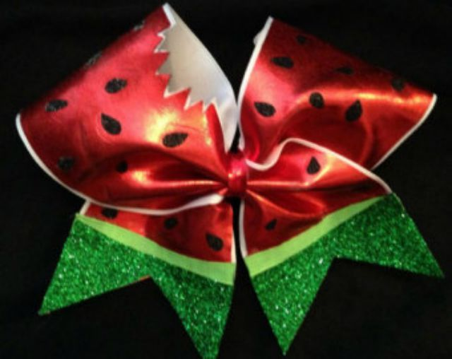 10 Beautiful Bows for Summer: Watermelon Sparkly Cheer Bow