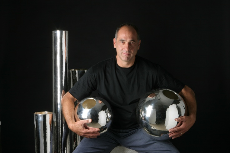 """Simple"" vases in Silver 925 for your luxory flowers..    He is Stefano Brandimarte, the manager of Brandimarte's Company"