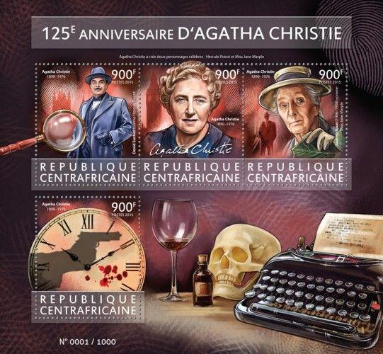 CA15417a 125th anniversary of Agatha Christie (1890–1976. David Suchet as Hercule Poirot, Joan Hickson (1906–1998) as Miss Jane Marple)